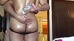 Hot big ass indian babe getting her asshole fucked hard in this rough porn